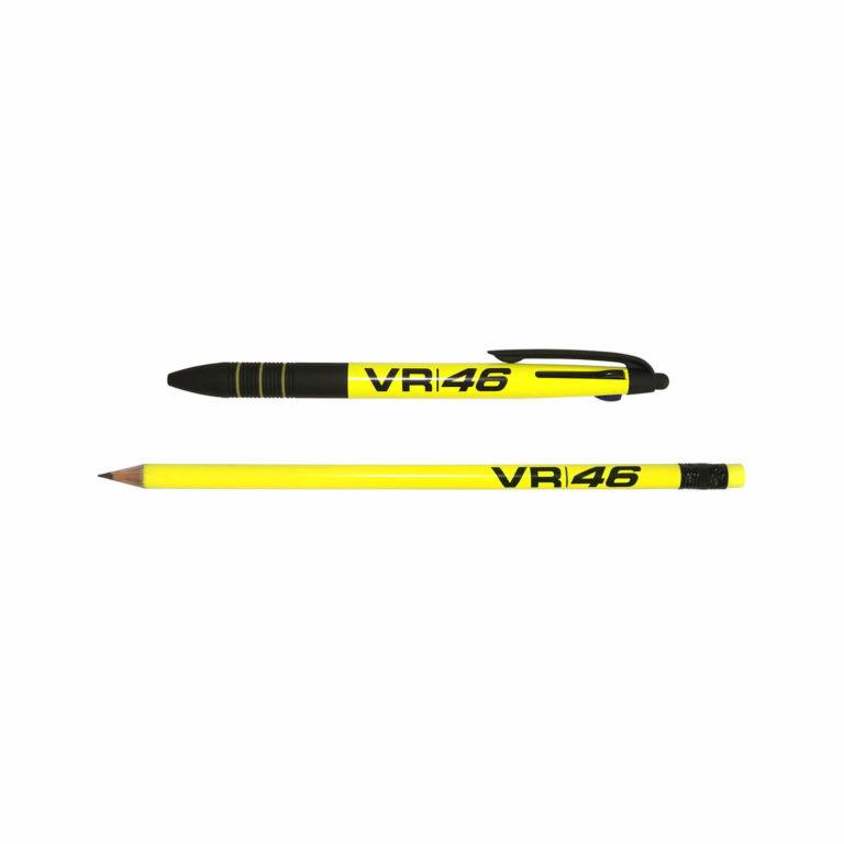Penna a tre inchiostri e matita fluo