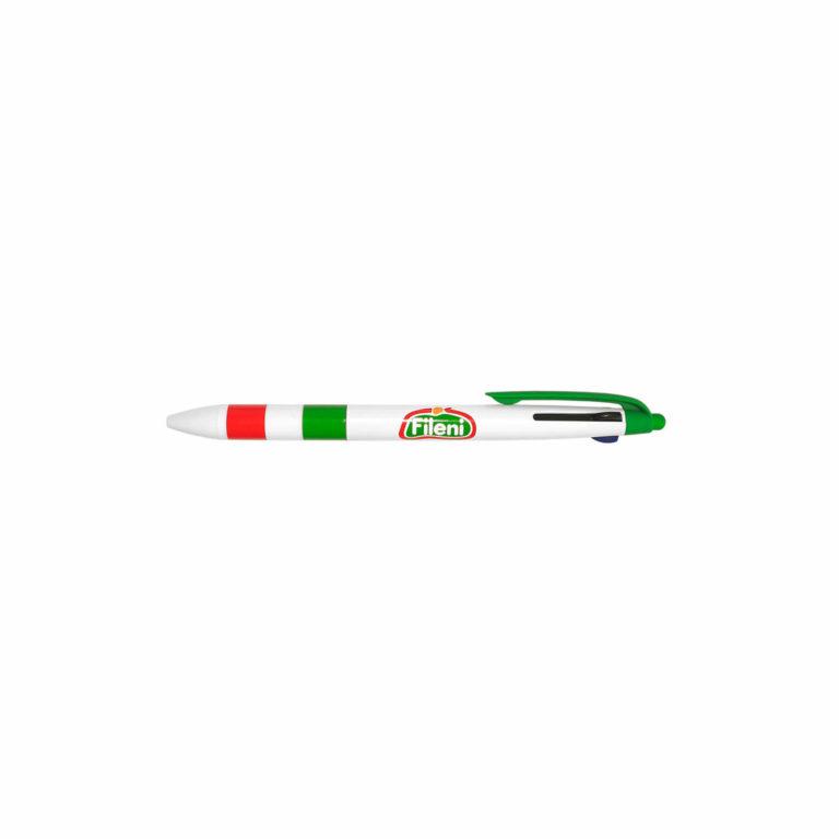 Penna a tre inchiostri con impugnatura e clip in colori Pantone